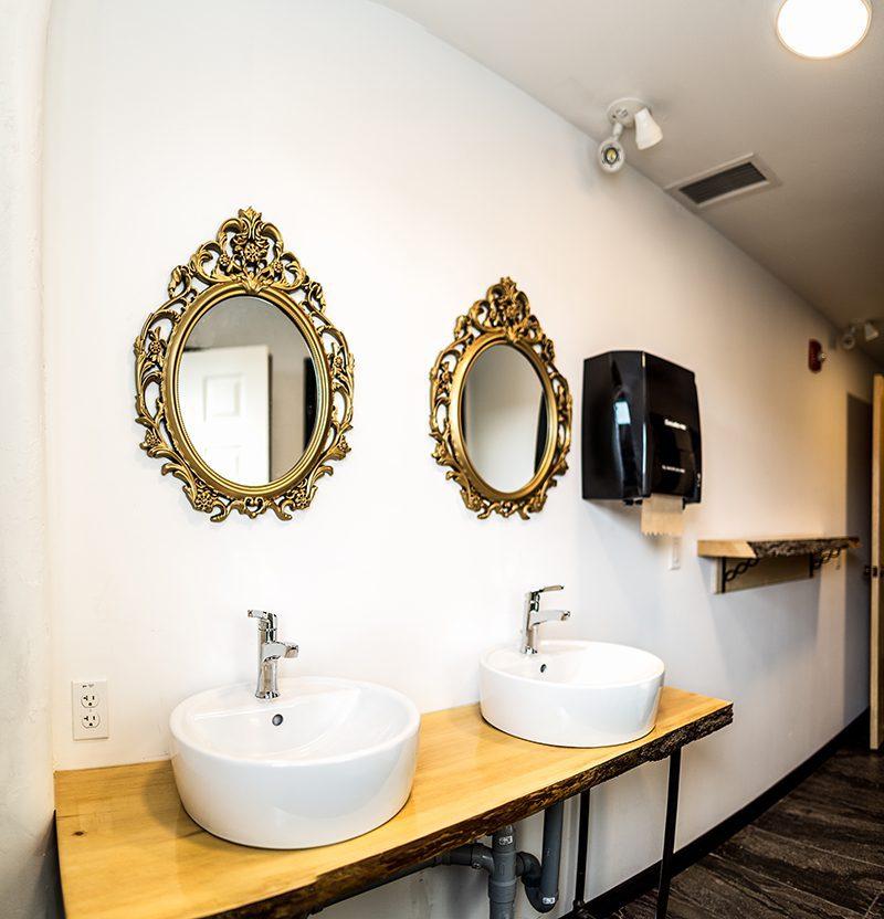 Womens communal bathroom