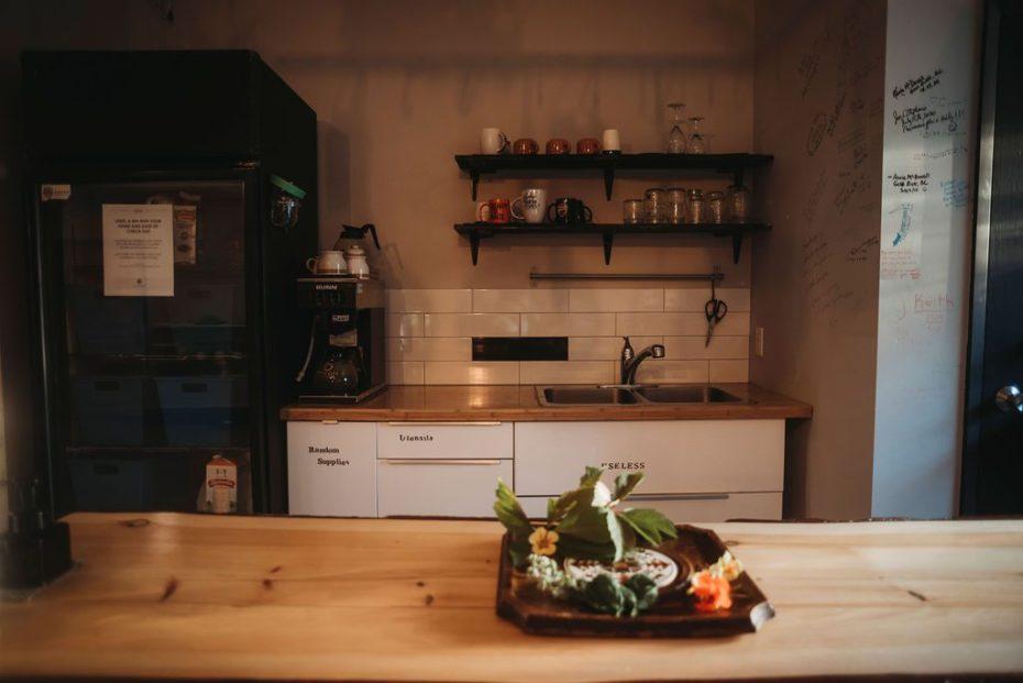 Stocked clean kitchen